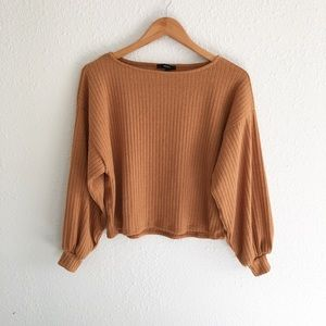 Forever 21 Ribbed Batwing Longsleeve Blouse
